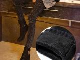牛仔裤女式 加绒加厚牛仔裤女雪花镶钻小脚裤女冬季新款弹力裤女