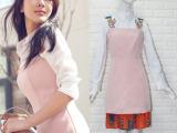 2016新款杨紫明星同款白色衬衫刺绣肩带