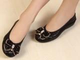春夏新款真皮广州潮女鞋 欧美外贸品牌蝴蝶结女单鞋 坡跟女式鞋子