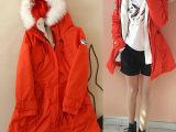 2014冬季韩版女装外贸原单爆款 内胆加绒可拆卸兔毛加厚女士棉衣