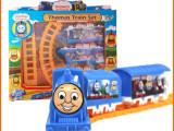 儿童热卖正版电动托马斯轨道火车 地摊热销小火车模型玩具