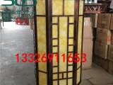 菱形柱头灯八角形柱头灯圆柱形柱头灯小区石墩柱头灯定制