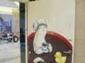 柳州墙绘新蜂壁画 商场公共设施门口过道创意装饰彩绘