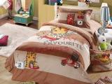超柔加厚拉舍尔天鹅绒四件套 儿童保暖四件套 卡通儿童床上用品