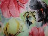 厂家直销 数码印刷花朵PU皮革 细葱闪光