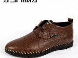 广州鞋 进口石头纹牛皮男士时尚 潮流真皮男鞋 休闲鞋男鞋 满包邮