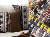 厂家直销 民族风色织提花沙发面料 21S涤棉混纺箱包家纺用提花布