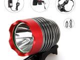 LED T6 自行车灯 6x18650套装 头灯 U2 L2充电