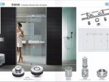 双开门淋浴房移门五金配套304不锈钢玻璃吊移门滑轮18B