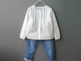 3108 爱琴海的浪漫 外贸原单 纯棉女童白色衬衣娃娃衫