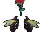厂批现货玫瑰刺绣布贴 热卖时尚绣花补丁贴
