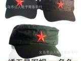 厂价供应绣五星红军帽 五星贝雷帽B货