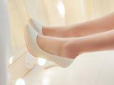 2014 欧美时尚 白领气质 纯色 尖头 高跟  秀腿 浅口 女
