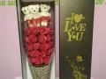 定制礼品玫瑰花礼盒正品费列罗巧克力礼盒送女友