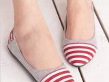 春秋季平跟淑女小s 百搭斑马条纹平底鞋尖头拼色女单鞋厂家直销