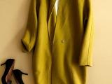 高端双面羊绒大衣 茧型羊绒女大衣立领中长大衣外套 翻领羊毛大衣