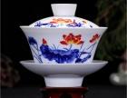 供应定做陶瓷盖碗 高档礼品盖碗 手绘盖碗茶具