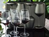 芯锐畅享套装四只无铅水晶红酒杯家用葡萄酒杯高脚杯创意外带酒杯