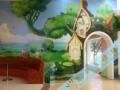 早教中心彩绘 幼儿园墙绘 文化墙彩绘