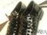 英伦复古真皮镂空尖头低跟牛津鞋漆皮系带中性女鞋 批发 一件代发