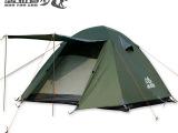 撑门遮阳防雨 双层双开门3-4人多人四季帐露营野营帐篷 户外必备