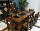 原生态家具老船木茶几客厅接待沙发配套实木炕几功夫茶桌现代中式