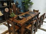原生態家具老船木茶幾客廳接待沙發配套實木炕幾功夫茶桌現代中式