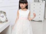 夏季新款女童连衣裙批发 韩版纯棉无袖公主连衣裙 生日礼物裙