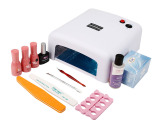 甲油胶套装批发 UV可卸光疗指甲油胶套装 封层二合一光疗工具套装