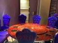 大理石火锅桌,不锈钢火锅桌,碳化木火锅桌等等