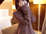 2014秋冬季新款女装毛衣外套高领长袖复古套头宽松加厚针织打底衫