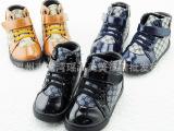 2014冬季新款童鞋批发 韩版儿童女童亮皮时尚休闲鞋 运动鞋A8