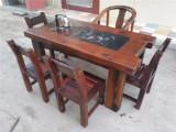 船木茶桌椅组合160cm批发 老船木中式茶台茶艺桌