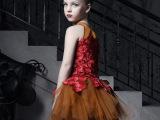 2015欧美女童连衣裙 高档手工儿童礼服蓬蓬女童裙演出服 一件代
