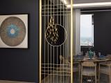 臻劲新中式轻奢不锈钢隔断屏风定制客厅玄关金属