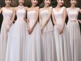 2015新款韩版显瘦伴娘服长款伴娘团礼服姐妹裙宴会演出服晚礼服女