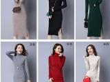8元厂家直销新款时尚针织毛衣中长款 修身圆领套头字母毛衣女