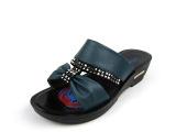 2014夏季新款女鞋妈妈凉拖坡跟大码拖鞋 女一字拖水钻平底凉鞋女