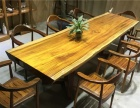 奥坎实木大板电脑桌会议桌书桌学习桌办公桌茶桌茶海红木大板