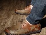 吉普新款男鞋 编织休闲鞋 真牛皮鞋 子时尚休闲单鞋男 厂家直销
