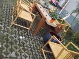 禅意茶桌新中式创意循环水茶艺桌实木茶 流水茶台香樟木老石板