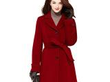 【清仓价】秋冬装新款韩版修身单排扣羊毛呢外套毛呢大衣中长款