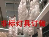 现代水晶长方形吊灯水晶工程灯S形灯具休闲娱乐场所灯具厂家订制
