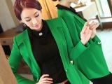 2015新款秋装小西装女外套韩版潮修身中长款大码小西服