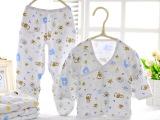 纯棉新生儿 春秋冬季初生婴儿衣服 0-3月全棉宝宝内衣 可代发