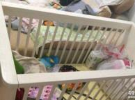 国外大牌纯实木婴儿床可升降