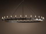 美式乡村复古铁艺工业风吊灯创意餐厅客厅灯饰欧式酒店酒吧灯具