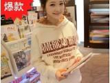 2014秋装外套韩版新款女装女式卫衣 加厚抓绒卫衣女式连帽卫衣女