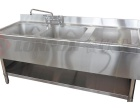 LONPON洗刷水池系列西式三星带柜水池