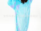 摇粒绒爱情公寓秋春秋季睡衣连体卡通动物沙利文长袖套装家居服
